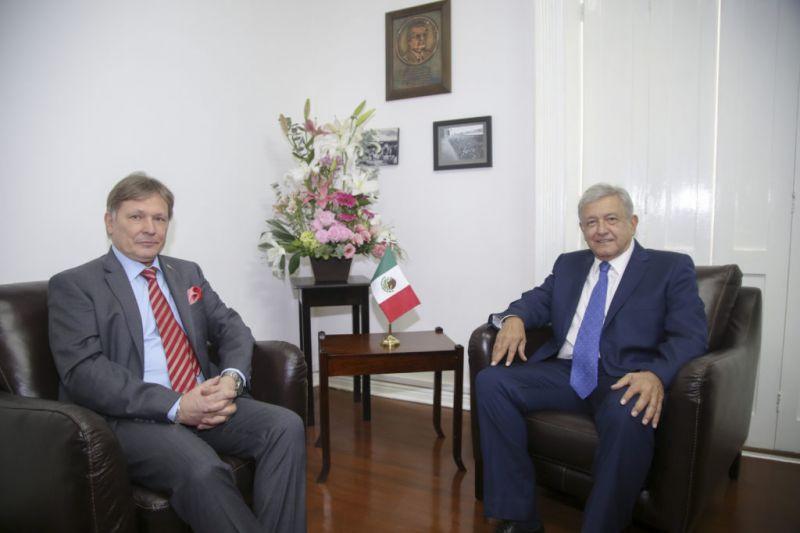 Recibe López Obrador a Embajador de Rusia
